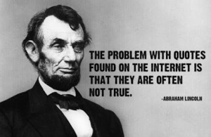 Abraham Lincoln on Internet Quotes